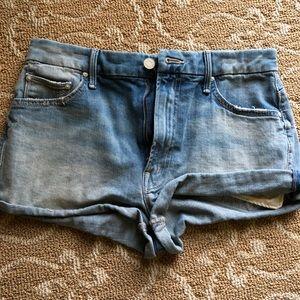 NWOT mother denim blue jean shorts